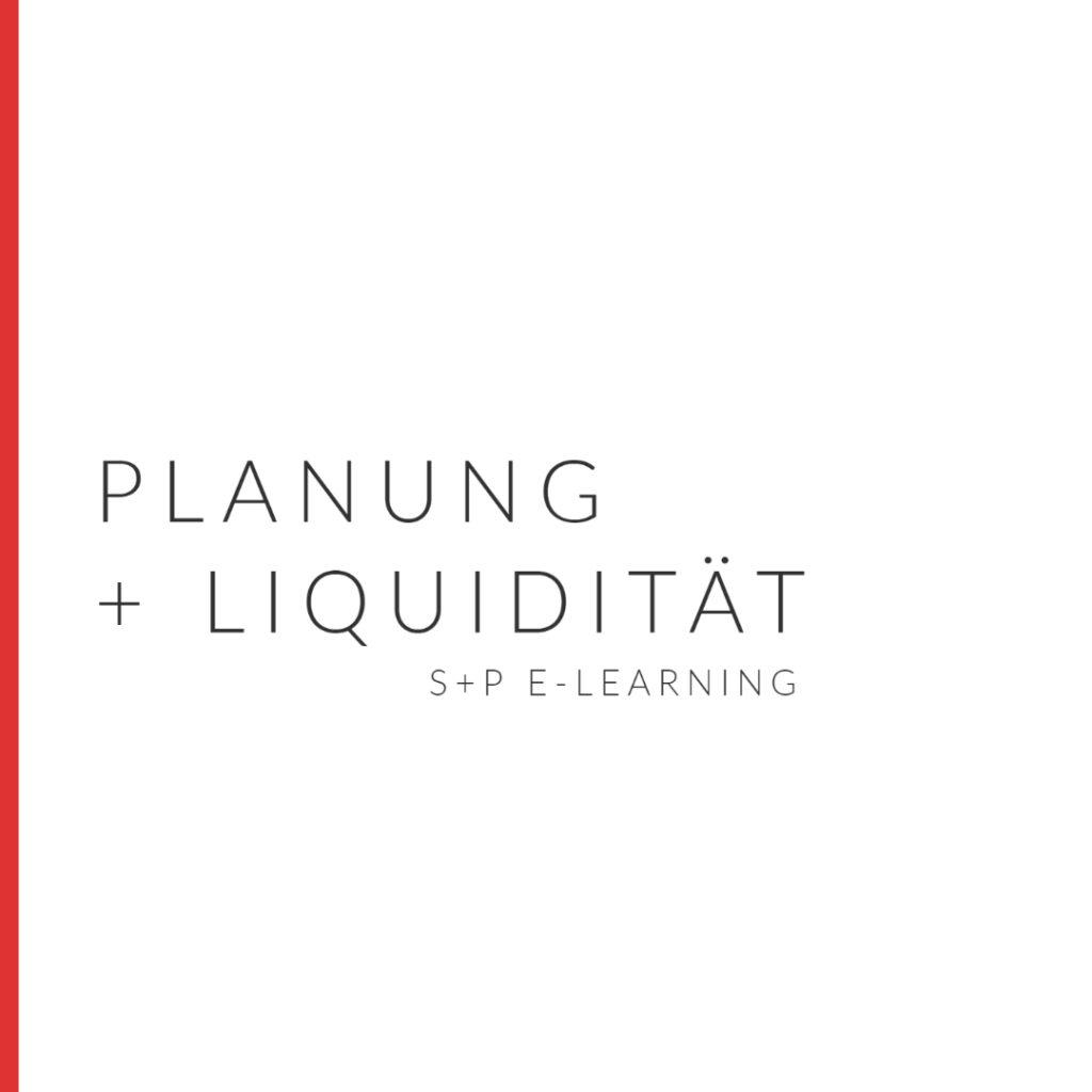 E-Learning Planung & Liquidität